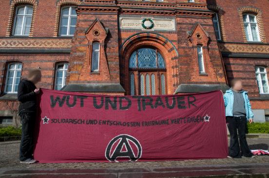 Protest vor dem LG Flensburg 2017